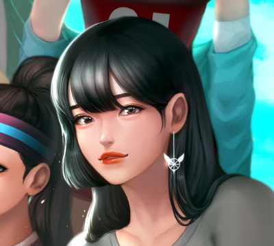 프2 여캐들과 내 캐릭터 팬아트