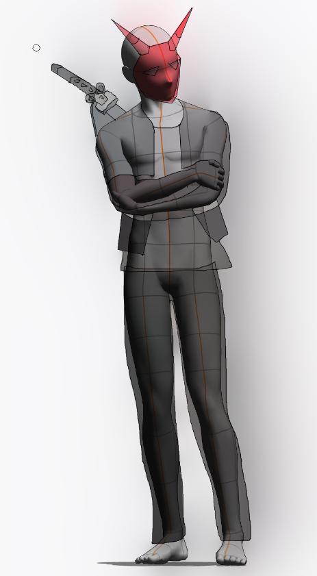 [의상 공모전] 평상복 도깨비 가면 사무라이